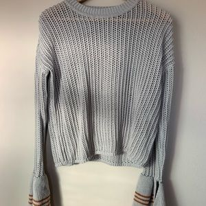 Lovers & friends gray sweater with flare sleeve s